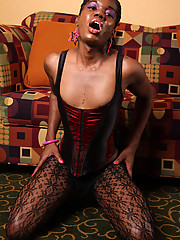 Hot black tgirl with a long cock