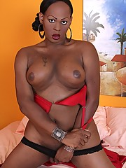 Jada is a strong and busty tranny who is best known for her massive black cock.