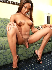 """Ebony Tranny Anjel with a \""""J\"""" is from Conley, Georgia. This busty beauty has the perfect body and I hear the way she sucks off guys is just heavenly!"""