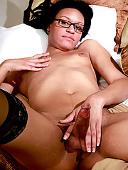Super cute tgirl with rock hard cock