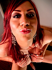 Wild flame-haired Mexican Valerie has an awesome ass and a long curvy cock.