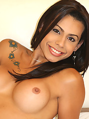 Bruna is stunningly beautiful with her dark brown eyes and smooth caramel skin. She looks too good to eat out!