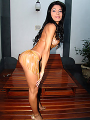 Petite body with a beautiful cock makes this tranny a knockout!