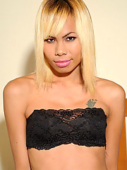 Cut blonde ladyboy with a great look!