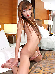 19yo tranny Toon is a super horny girl and she was hard as soon as her panties came down!