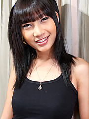 Bangkok ladyboy Cad works in Cascade bar. She?s got natural breasts, tiny waist and a nice uncut cock that gets hard superfast!