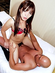 Horny Japanese shemale in hardcore action