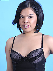 Navajo Indian tgirl Carmen is soon out of her sexy black lingerie!