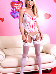 Monica is decked out in her Valentines Day lingerie and ready to celebrate with you!