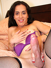 Michelle is a horny tgirl from the bronx who needs to have cum for breakfast every morning or else she\