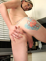 Our newest tattooed beauty, Tranny Morgan Bailey is an Irish cutie originally from Chicago. She\