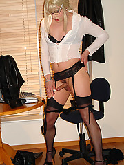Saucy secretary Candi gets hot and horny in the office