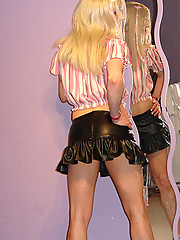 Sexy love doll Candi plays dress up in cute outfits