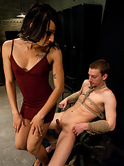 Ts_Honey fucks a naive cute white guy who gets a hard on while being made to suck her dick. She fucks his tight ass with her 10inch thick rod.