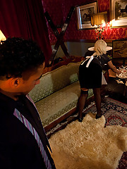 Ts hottie ass fucks abusive party guest when he comes on to her.She cums on his hard cock.