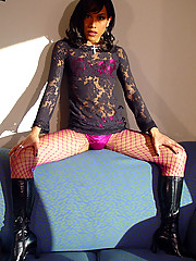 Boston tgirl Trina, also known as Katrina, looks stunning in lace