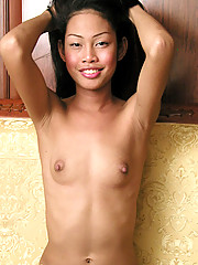 19 yo with sweet hormone breasts and even sweeter lips, a real cutie.