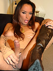 Amazing looking girl in boots with perfect tits!