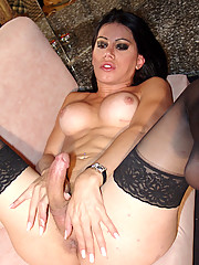 Brazilian Tranny, Barbara Ribeiro, loves a many who treats her like a total slut!