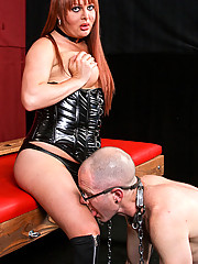 This firey redhead teaches Vic a thing or two about respect!