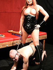 Wendy Williams administers severe punishment upon her slave, humiliating and paddling him into submission until he can no longer stand