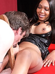 Sexy Jade loves fucking a guys ass for the first time, making them submit to her hard, black cock as they experience pain with the sweet pleasure.