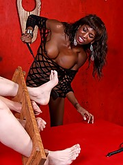 Mistress Natassia Dreams wastes no time teaching her sissy boy a lesson in respect