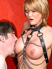 Mistress Astrid asks her sub if he is worthy of worshipping her body. He stands in fearful silence knowing that any response could lead to an outburst from his mistress... He is right, but unfortunately she also is unwilling to accept silence. She applies