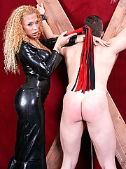 Mistress Jessica Host is back at TranSexDomination and she shows us a whole new wicked side. She puts poor Arnold through the paces.