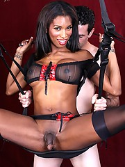 Mistress Natassia works slave Marcus over well but she is really craving something unique and different to turn her on tonight.