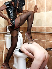 Tranny Mistress China calls the superintendent of her building because she needs a plumber. When the poor sap questions Mistress China\