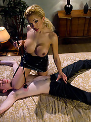 TS Jessica Host ravages a new boy toy,ass fucks, cums on his face