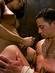 Ts Sexy Jade reams her slave boy, ass fucking, mouth fucking