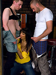 TS Yasmin Lee gang fucks two college guys. ass eating, bjs n more