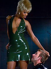 Ladyboy in Latex