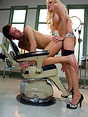 Shemale Jesse, naughty nurse, oral blow job ass fucking
