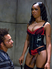 Sexy Jade intergates her prisoner and fucks the truth out of him