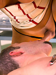 Dr. Carmen Cruz ass fucks her nurse and eats here own cum