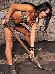 Jo Garcia showing off her big tool