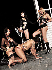 Karol Tatiane and Sandy share a submissive slave