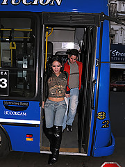 On the back of the bus aint so bad when you got a tranny giving you head