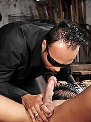 Shemale submissive getting man handled