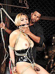 Angel Star is taught to be an obedient shemale slave
