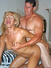 Tall blonde tranny gettin pounded by big dude