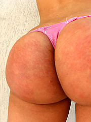 This sexy tranny has the ass of a champion in these hot pics