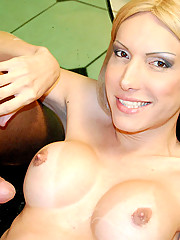 Hot ass tranny b ia gets her plump booty rammed with a hard cock in these hot outdoor park fucking pics