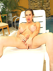Tranny barbarella gets drilled her ass by a huge dong at the beach in these hot cumfaced tranny extreme pics