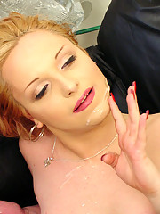 Cute blonde tranny getting straight dude to bang her