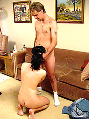 Cute tranny brunette gets soem hard cock