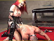 Tempest takes it to this whimp with her black and decker pecker wrecker